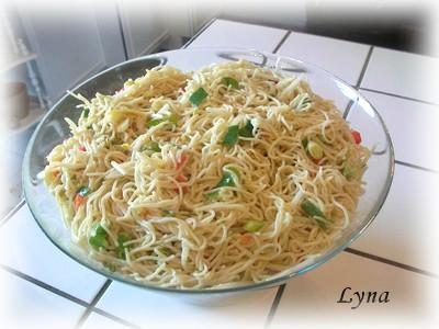 Salade de nouilles froides à l'asiatique Salade16