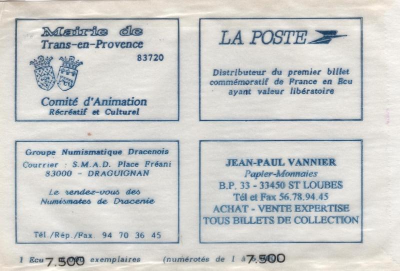 Premiers billets en Ecu/Euro 00811