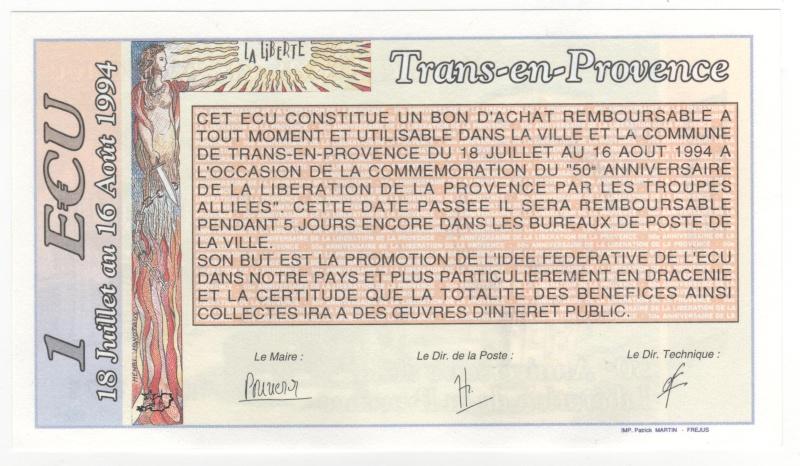 Premiers billets en Ecu/Euro 00910