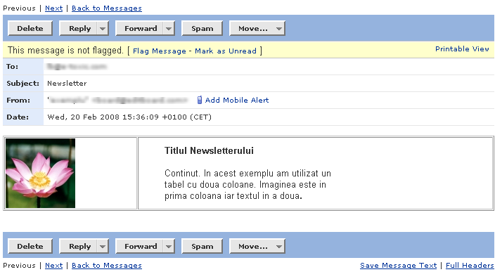Redactarea si trimiterea unui Newsletter Newsle19