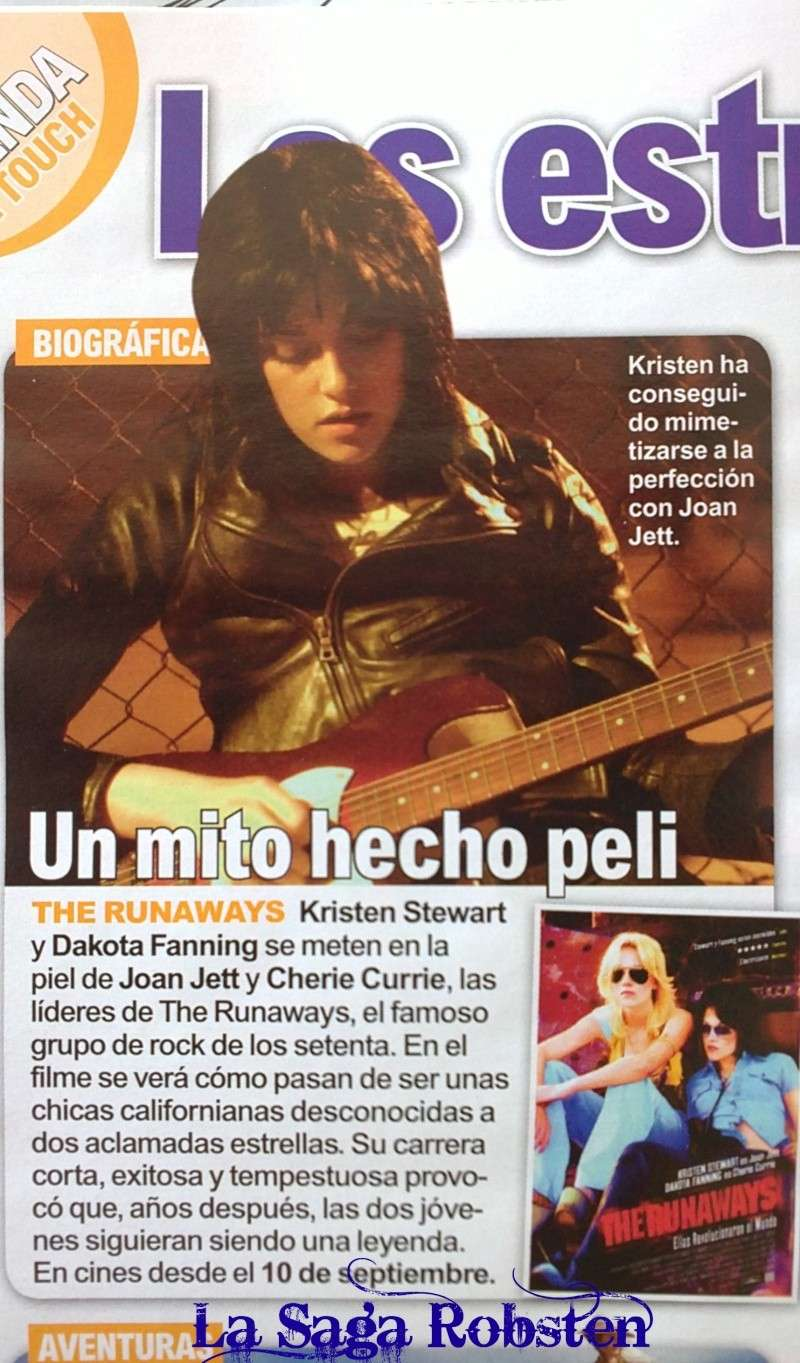 'The Runaways' featured in InTouch magazine (Spain) 13092010