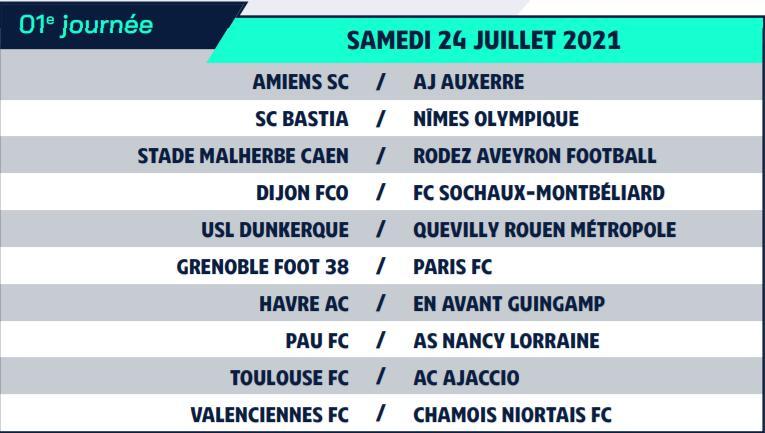 Calendrier de Ligue 2 saison 2021-2022 Calend10