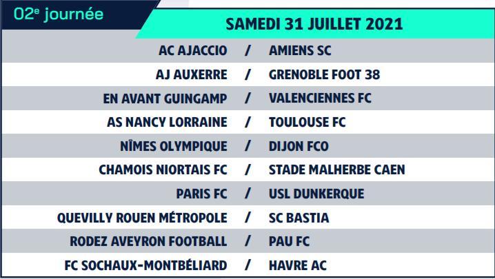 Calendrier de Ligue 2 saison 2021-2022 Calend11