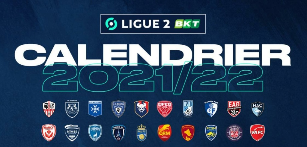 Calendrier de Ligue 2 saison 2021-2022 Calend12