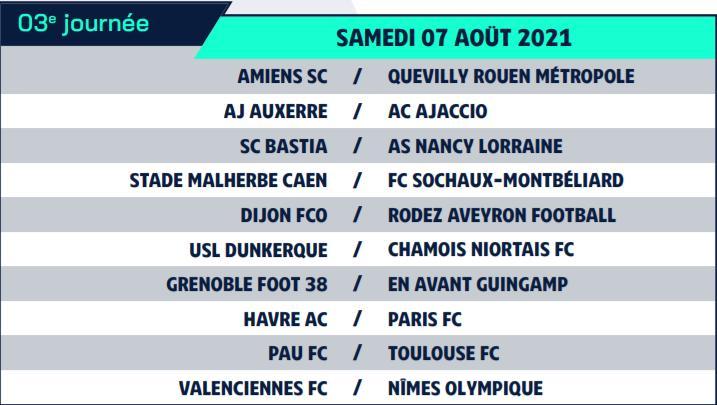 Calendrier de Ligue 2 saison 2021-2022 Calend13