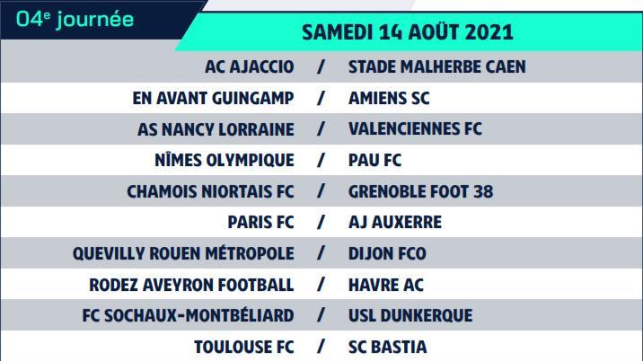 Calendrier de Ligue 2 saison 2021-2022 Calend14