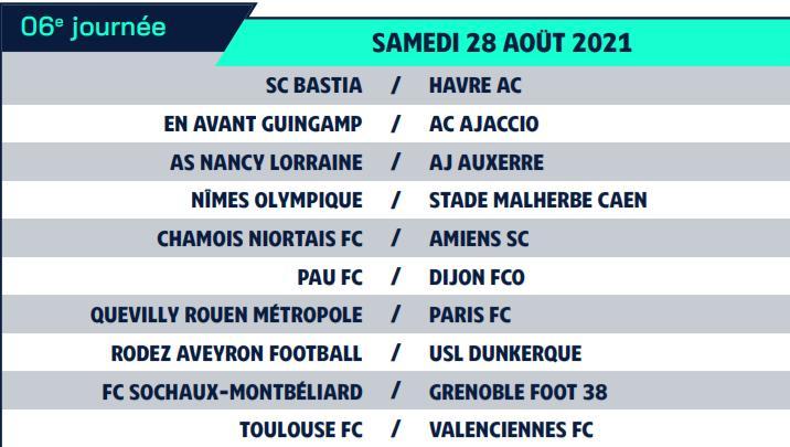 Calendrier de Ligue 2 saison 2021-2022 Calend16