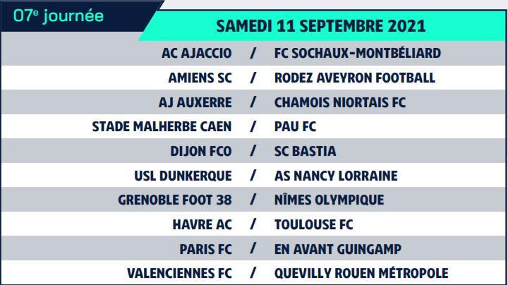 Calendrier de Ligue 2 saison 2021-2022 Calend18