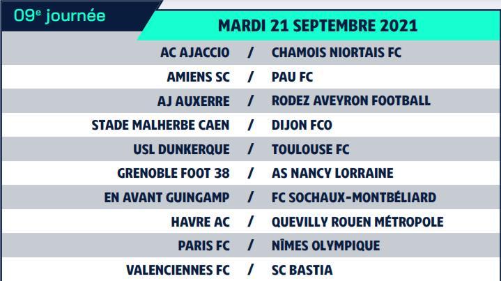 Calendrier de Ligue 2 saison 2021-2022 Calend19