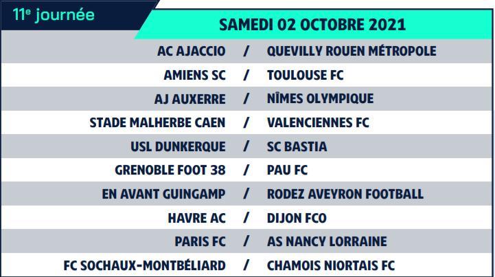 Calendrier de Ligue 2 saison 2021-2022 Calend20