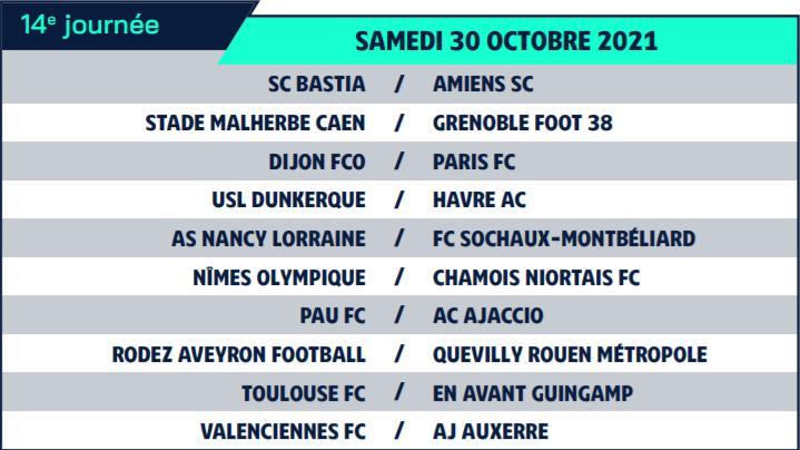 Calendrier de Ligue 2 saison 2021-2022 Calend23