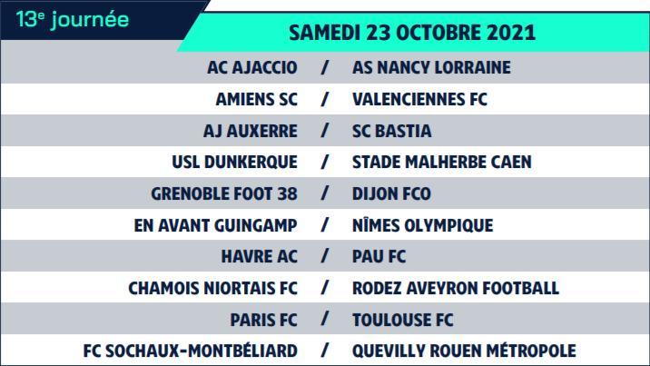 Calendrier de Ligue 2 saison 2021-2022 Calend24