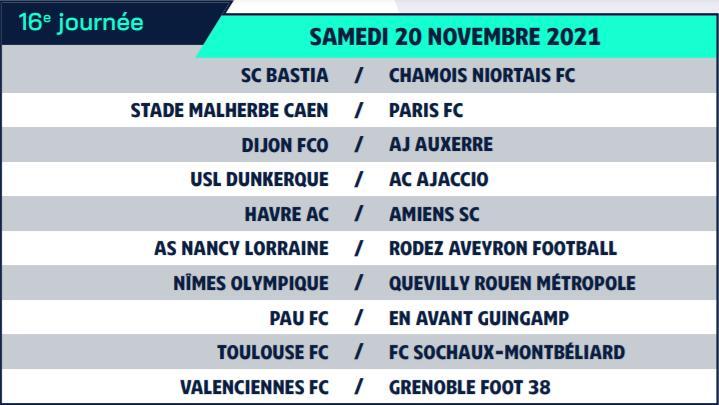 Calendrier de Ligue 2 saison 2021-2022 Calend25
