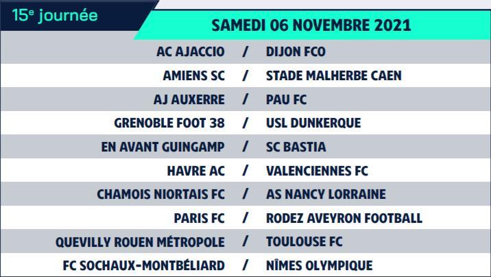 Calendrier de Ligue 2 saison 2021-2022 Calend27