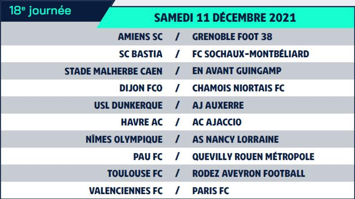 Calendrier de Ligue 2 saison 2021-2022 Calend29