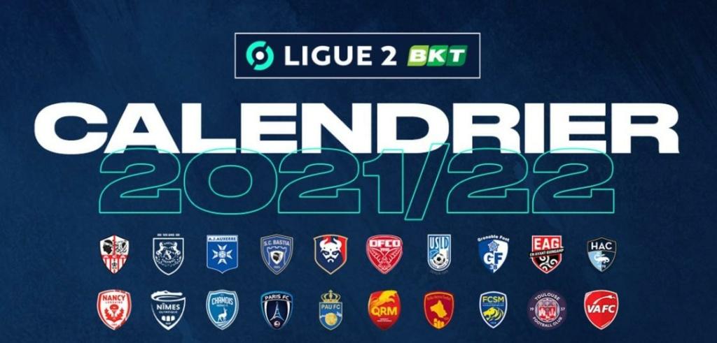 Calendrier de Ligue 2 saison 2021-2022 Calend30