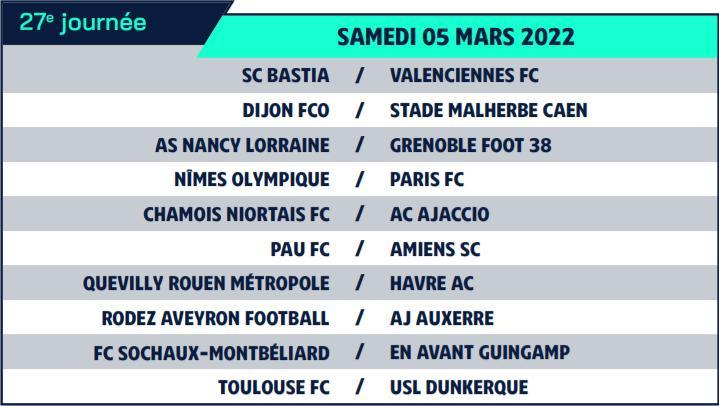 Calendrier de Ligue 2 saison 2021-2022 Calend39