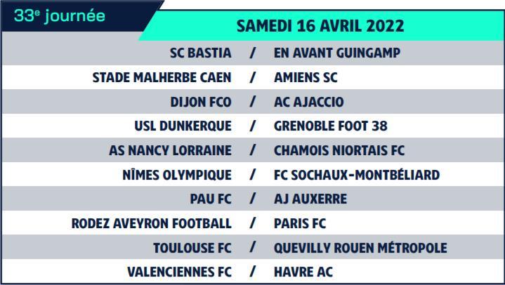 Calendrier de Ligue 2 saison 2021-2022 Calend45