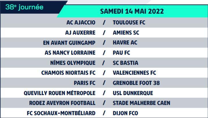 Calendrier de Ligue 2 saison 2021-2022 Calend49