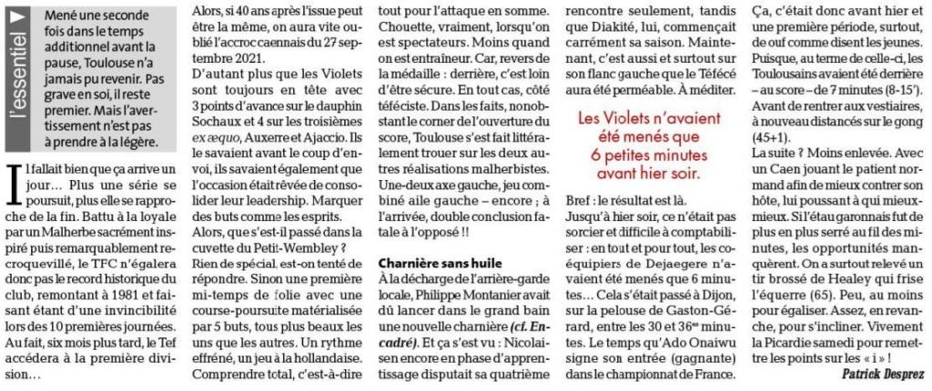 [10è journée de Ligue 2] Toulouse FC - SM Caen - Page 2 Dep_110