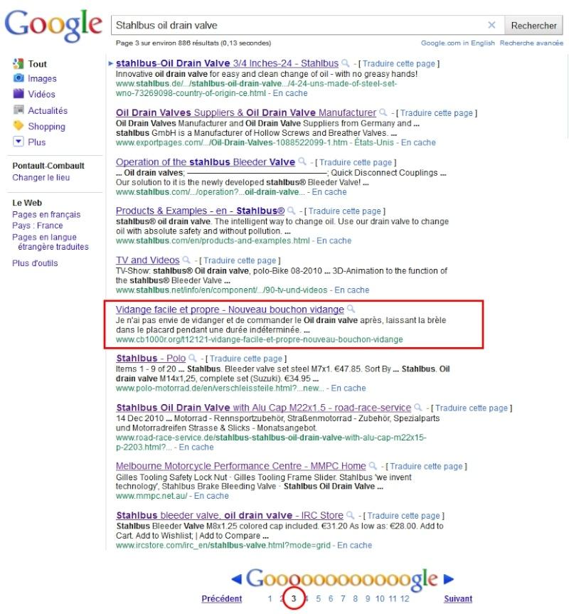 Vidange facile et propre - Nouveau bouchon vidange Google10