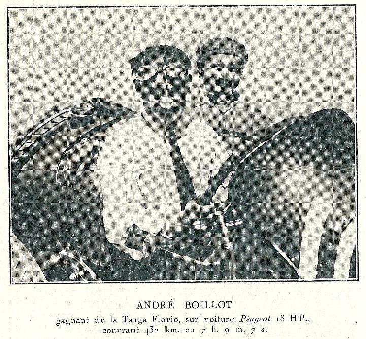 Pilotes cyclecars, voiturettes et grand sport Boillo10