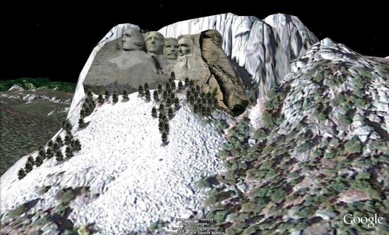 Grands Monuments du Monde en structure 3D [Sketchup] Rushmo10