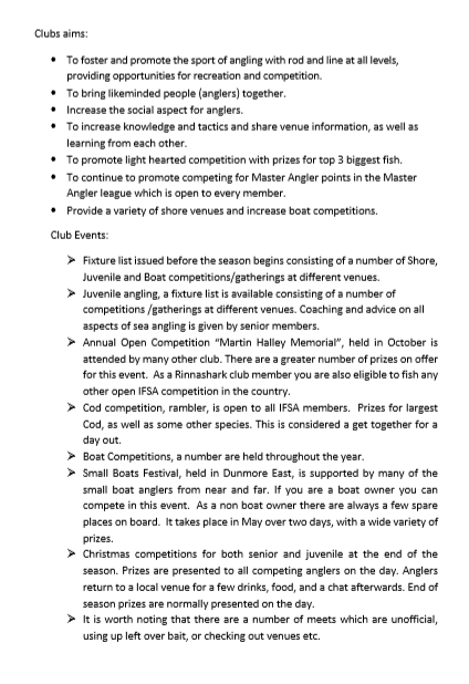 Club Changes and new aims to bring anglers together Please take five mins to read Page_210
