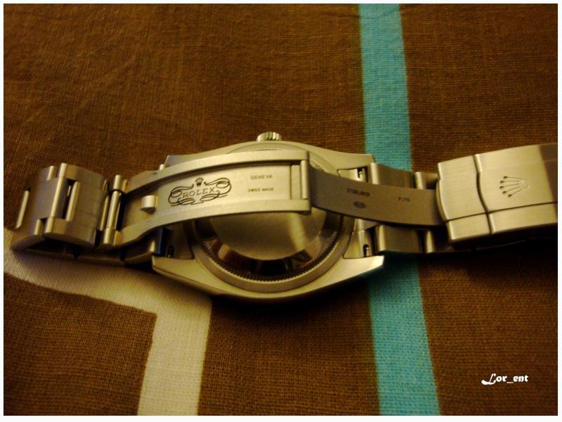Un cadeau parfait :  Rolex Oyster Perpetual 116000 Blue Dial Dsc04215