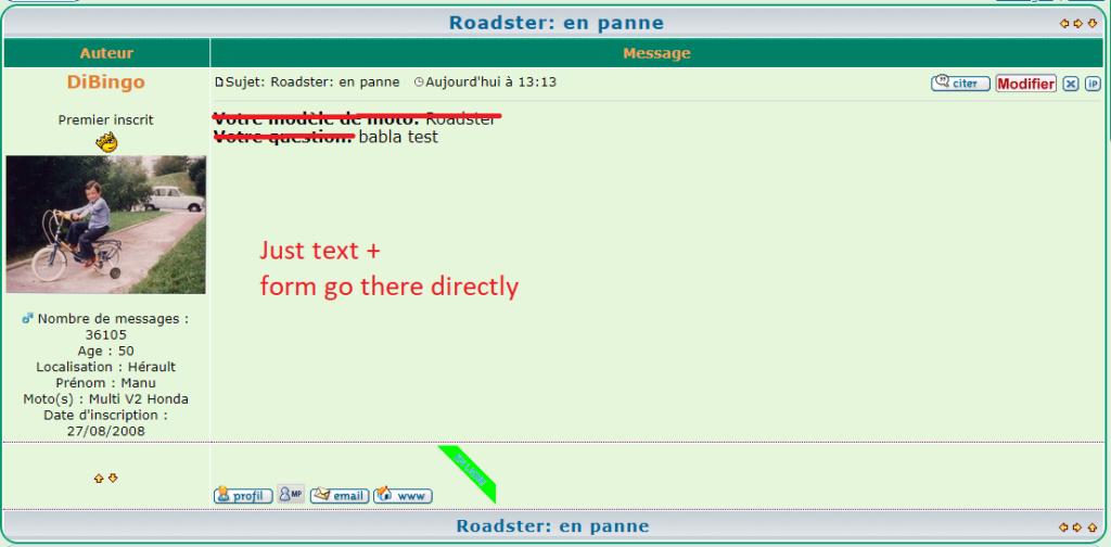 Automatiser TITRE des sujets + le choix de la rubrique Formul12