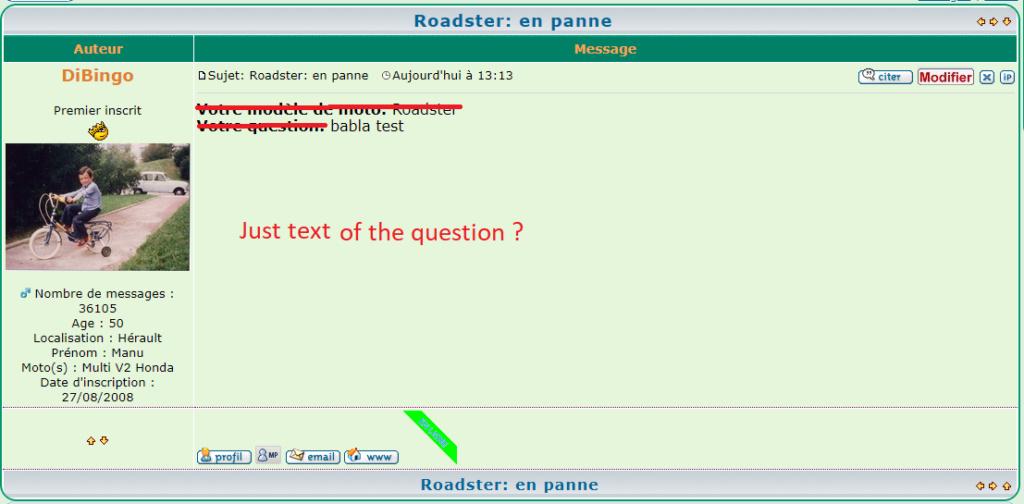 Automatiser TITRE des sujets + le choix de la rubrique Formul13