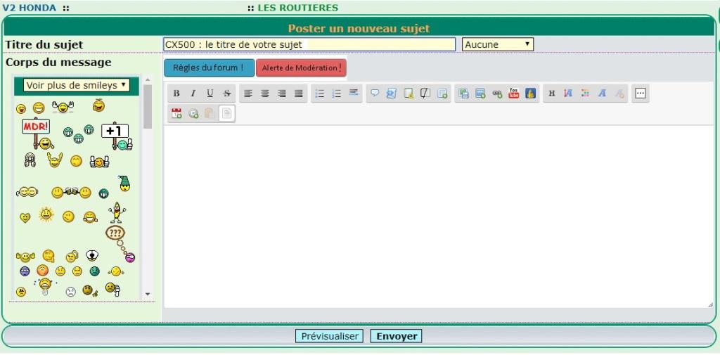 Automatiser TITRE des sujets + le choix de la rubrique Formul16