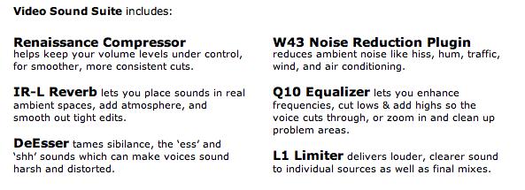 Video sound suite Captur33