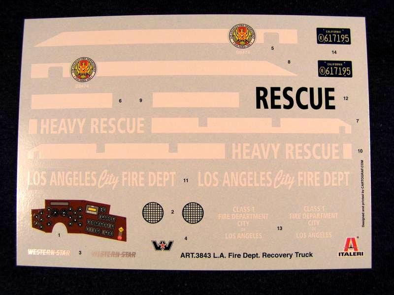 L.A Fire Department Recovery Truck 1:24 Italeri 01711