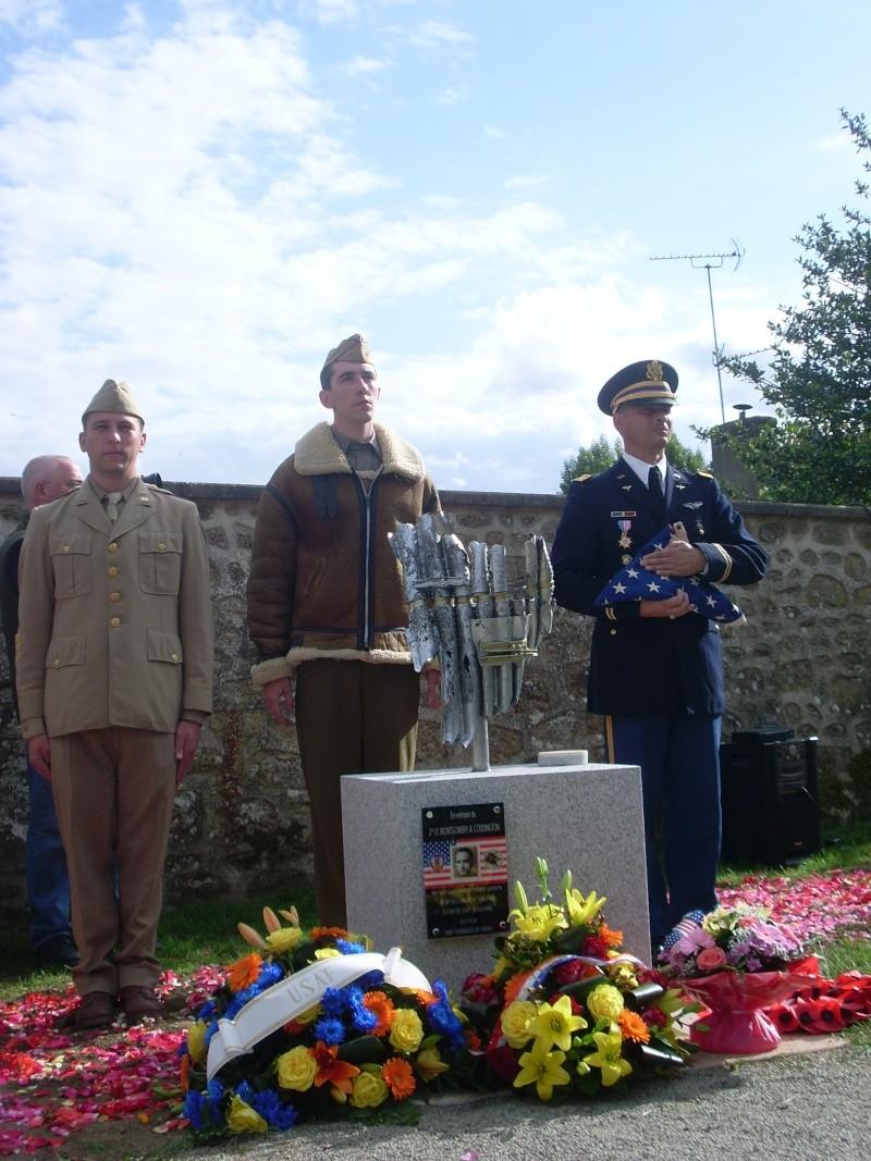 Inauguration et Cérémonie en Hommage au 2nd Lt. Montgomery A. Coddington 474th Fighter Group, KIA le 7 Juin 1944. Sl371111