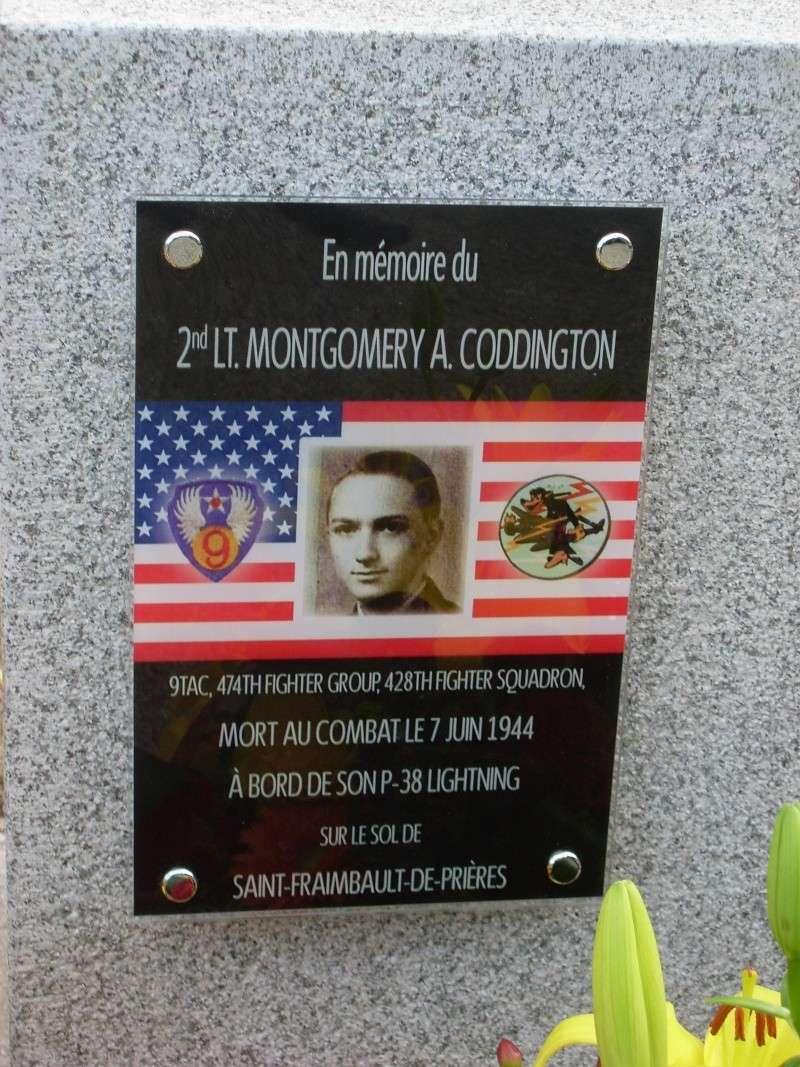 Inauguration et Cérémonie en Hommage au 2nd Lt. Montgomery A. Coddington 474th Fighter Group, KIA le 7 Juin 1944. Sl371115