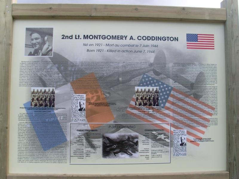 Inauguration et Cérémonie en Hommage au 2nd Lt. Montgomery A. Coddington 474th Fighter Group, KIA le 7 Juin 1944. Sl371118