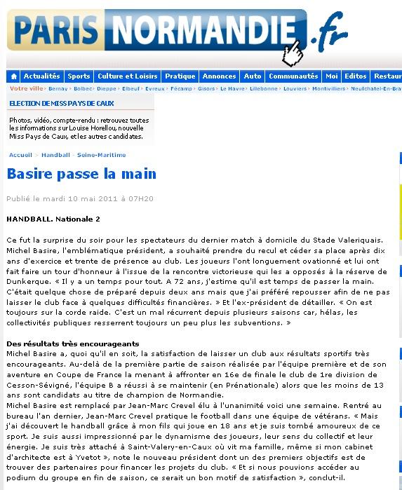 STADE VALERIQUAIS HANDBALL Bazire10