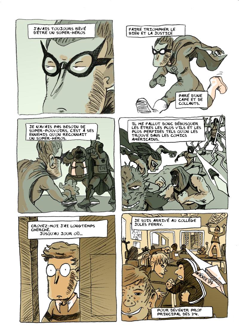 Bande dessinée en ligne sur les profs Prolog10