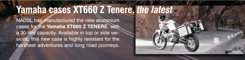 SHAD produces Original Equipment Luggage for the YAMAHA XT 1200Z Super Tenere. Tenere13