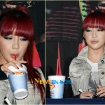 Park Bom is addicted to juice 20100922