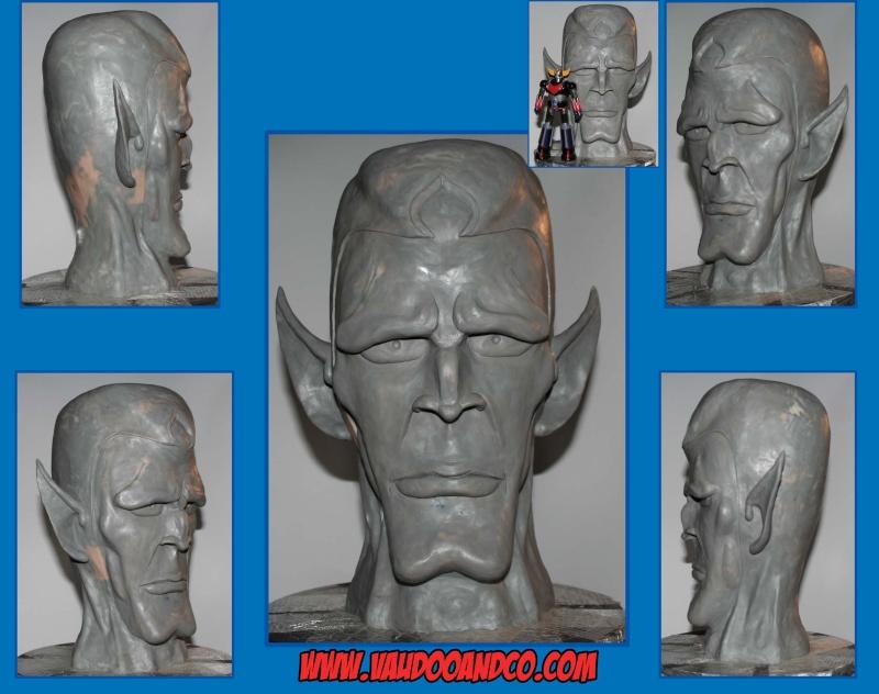 Goldorak : Buste au 1/1 de Minos par sculpteurfou Finive10