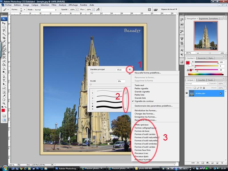 Ajouter des formes pour les outils Crayons et Pinceaux (brushes) Formes10
