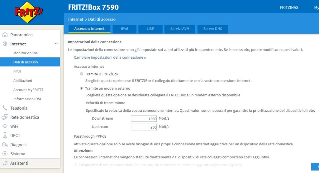 wifi lento tim ftth fritzbox 7590 Cascat10