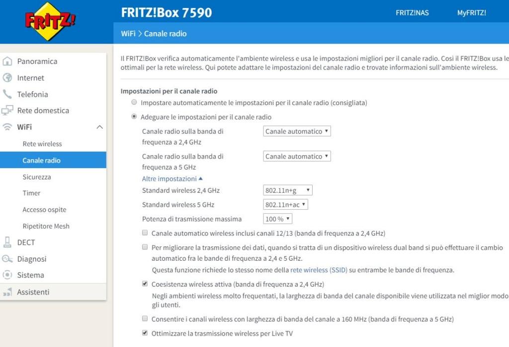 fritz box 6840 LTE disconnessione Cattur11