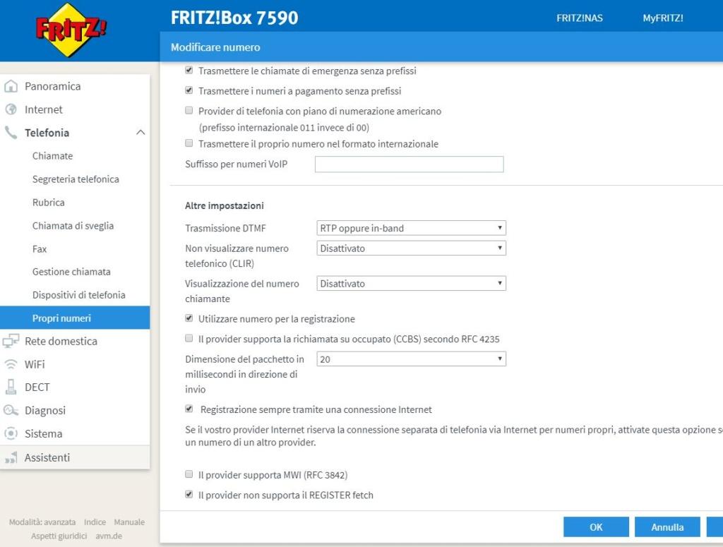 fritz 7490 problema voip non si sente niente Fetch10