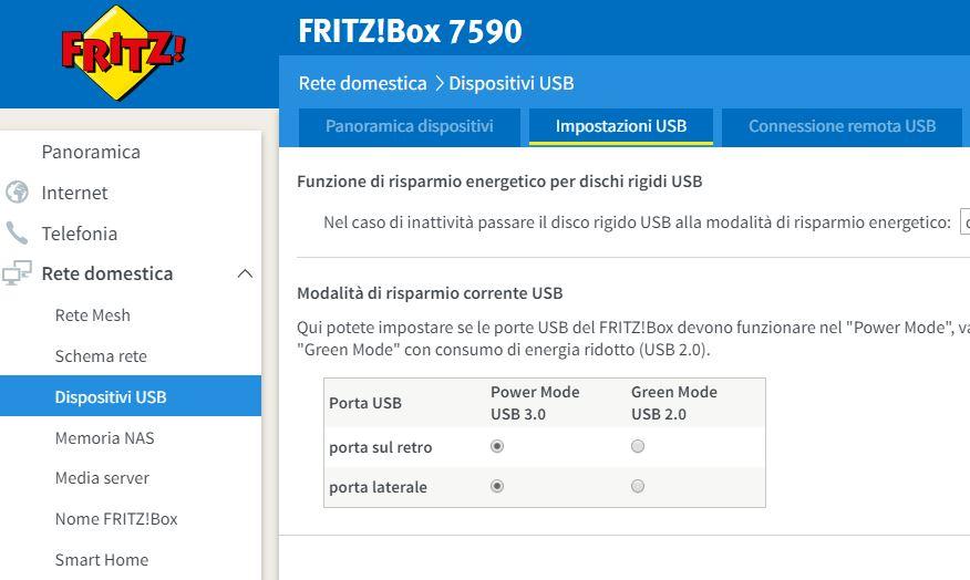 Fritz 3490 Hard disk USB cade linea ADSL  Porta_10