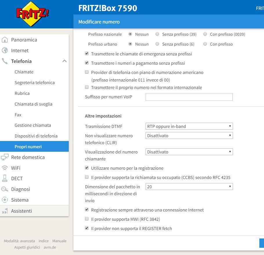 guida inserimento VOIP Tiscali 7490 Tel10