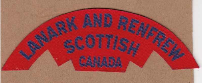 Printed Canadian badges Lanark10