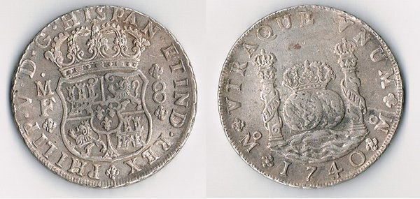 Dos Mundos/ 8 Reales Columnario real/fake? 1740-d10